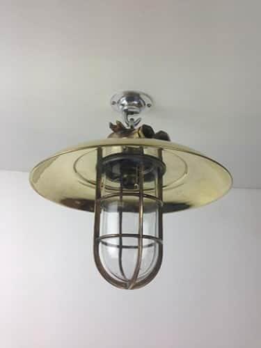 long vintage brass pendant light reclaimed light uk