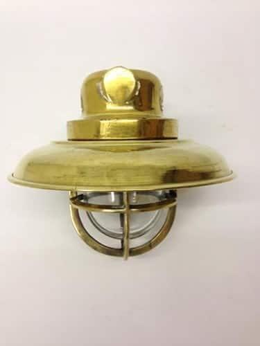 original ships shaded brass passageway light