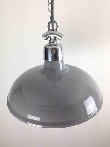 industrial pendant light grey