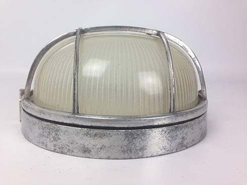 ribbed glass 4 bar vintage bulkhead light reclaimed lighting