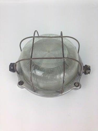 vintage light reclaimed light caged round bulkhead