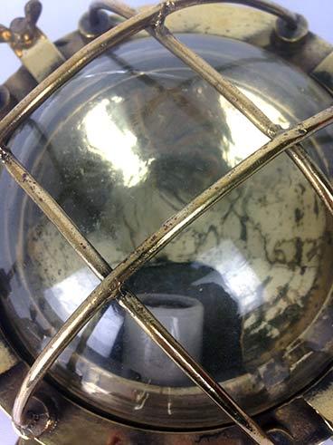 reclaimed ships light vintage brass bulkhead detail