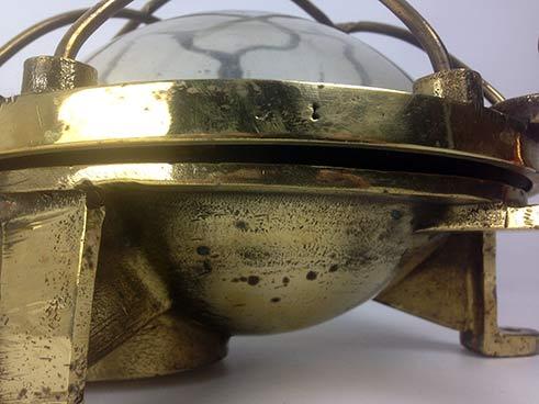 reclaimed ships light vintage brass bulkhead side
