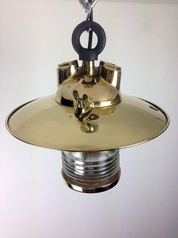 top view brass fresnel lens ship's pendant light