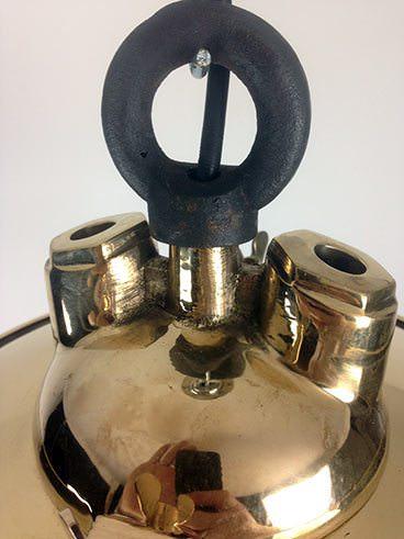eye hook brass fresnel lens ship's pendant light