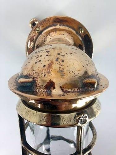 Vintage bronze Oceanic nautical wall light - top