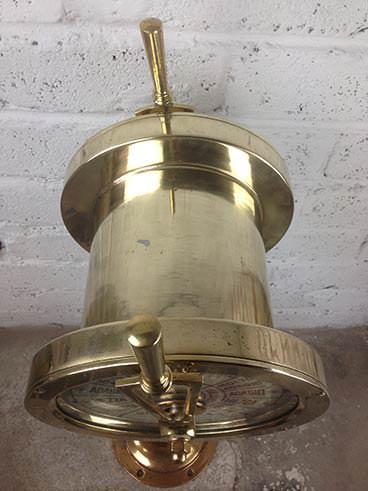 Vintage Gilnavi Italian brass ship's engine order telegraph - top