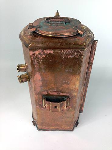 Vintage copper port double masthead ship's lantern - rear