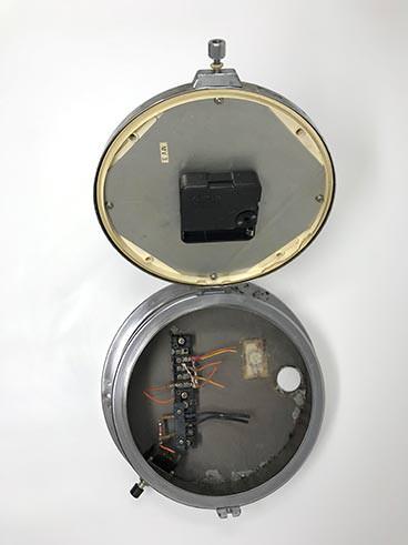 Vintage Seiko ship's radio-room clock polished - open