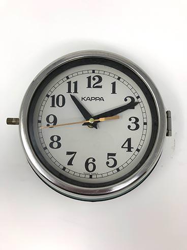 Vintage kappe ship's clock blue-green - full