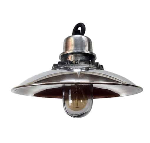 Any Old Lights Revivals Aluminium & Steel Nautical Pendant Light - main