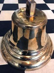 Large Vintage Polished Brass Ship's Bell