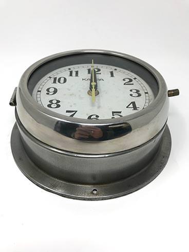 Vintage kappa ship's clock steel - angle