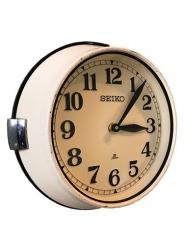 Ship's Clock - Vintage Seiko Cream Enamel