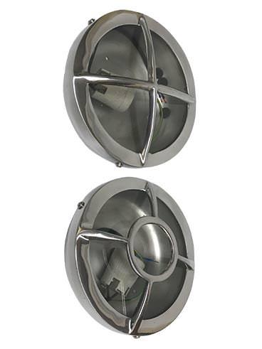 Retro Bulkhead Light - Revivals Bullseye & Crosshair Cast Aluminium