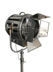 Vintage Mole Richardson 410 Solarspot on Vintage Steel & Brass Stand