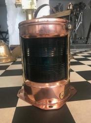 HMS Kingfisher 1974 Copper & Brass Starboard Lamp