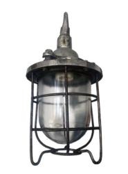 Vintage Aluminium Pendant Inspection Light
