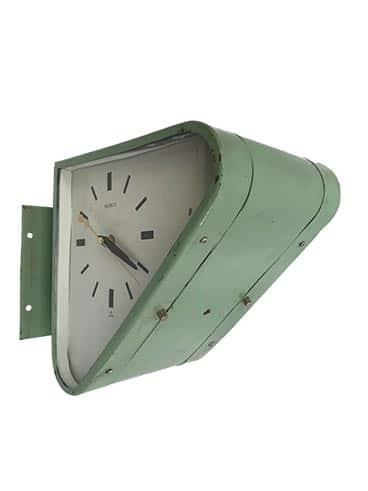 Vintage Ship's Clock - Seiko Triangular Double-Sided Enamel Finish