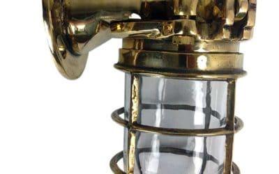 Vintage Maritime Light Focus: Japanese Brass Ship's Passageway Light