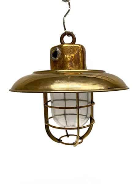 Vintage Brass Nautical Ceiling Light - main
